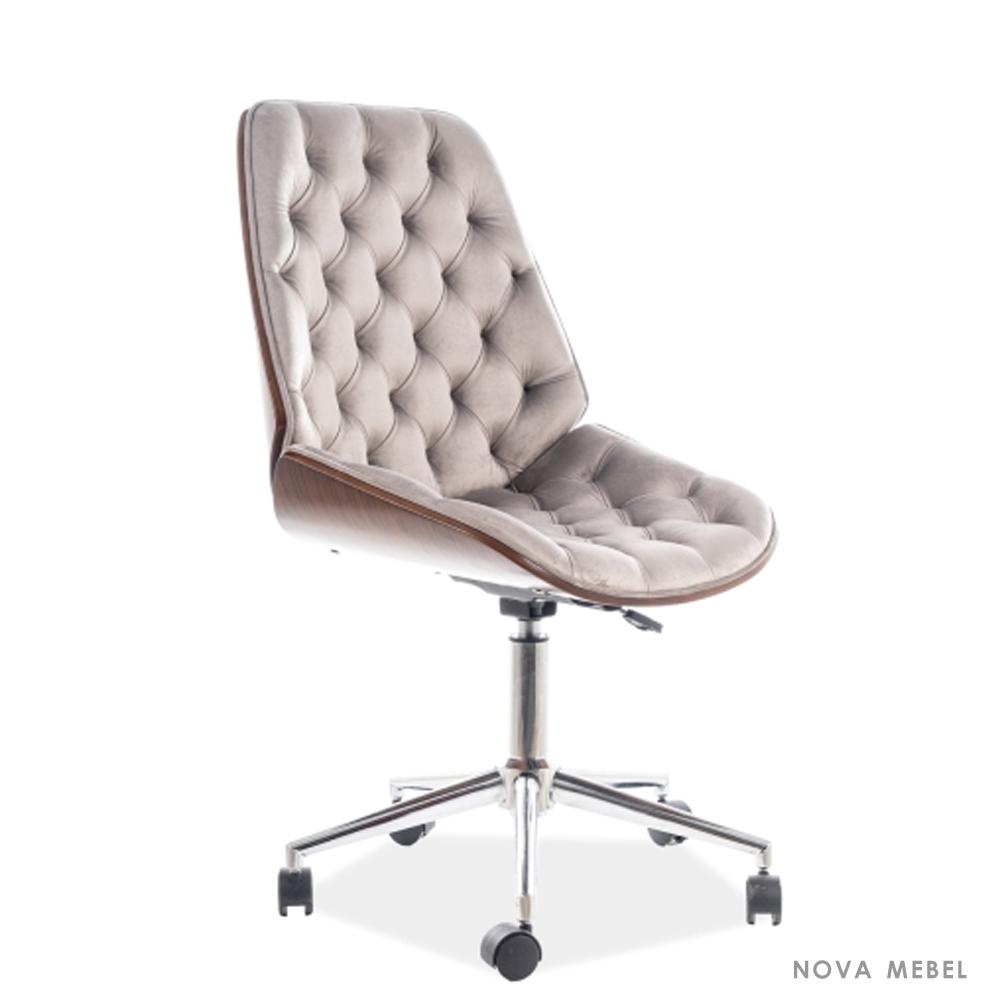 Кресло поворотное Signal Arizona Velvet   Серый